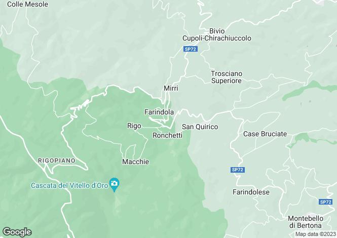 Map for Abruzzo, Pescara, Farindola