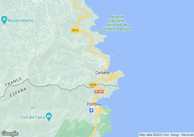 Map for cerbere, Pyrénées-Orientales, France