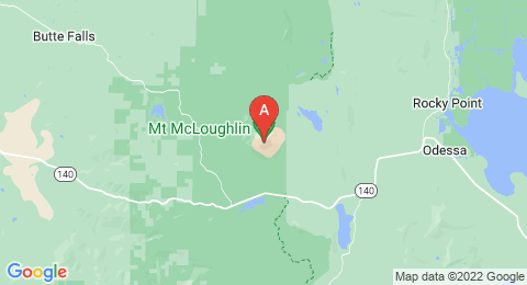 map of Mount McLoughlin (United States of America)