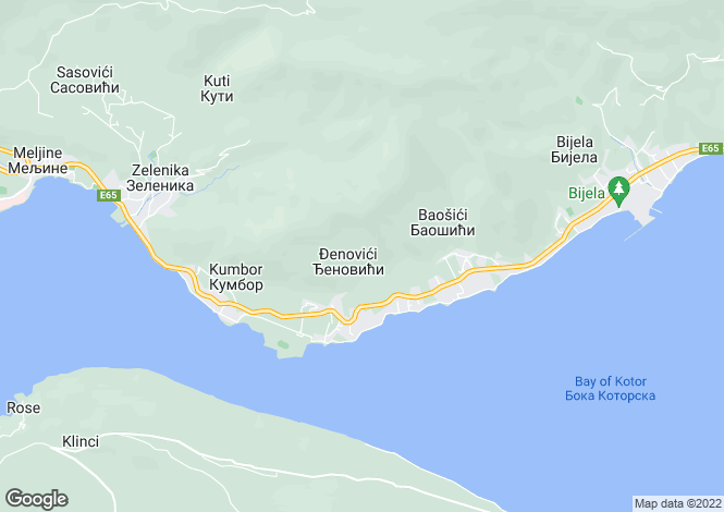 Map for Djenovici