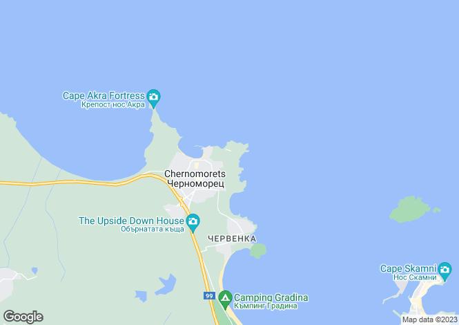 Map for Burgas, Chernomorets