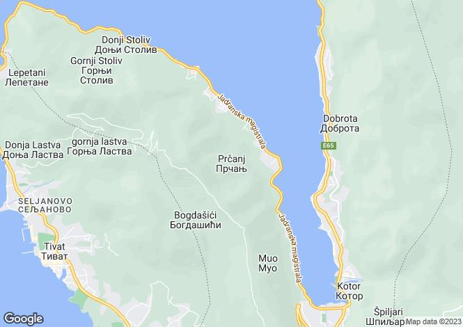 Map for Superior Quality VIlla In Prcanj, Prcanj, Boka Bay, Montenegro