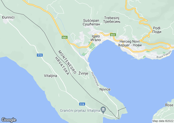 Map for Waterside Development - Outline Planning Permission Herceg Novi