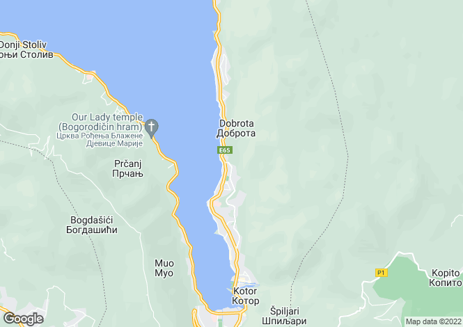 Map for Dobrota, Kotor, Montenegro