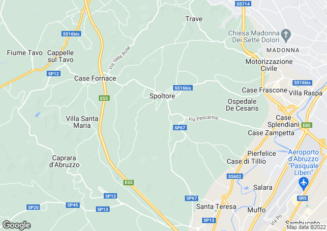 Map for Abruzzo, Pescara, Spoltore