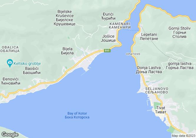 Map for Villa Kamelia, Prcanj, Kotor Bay