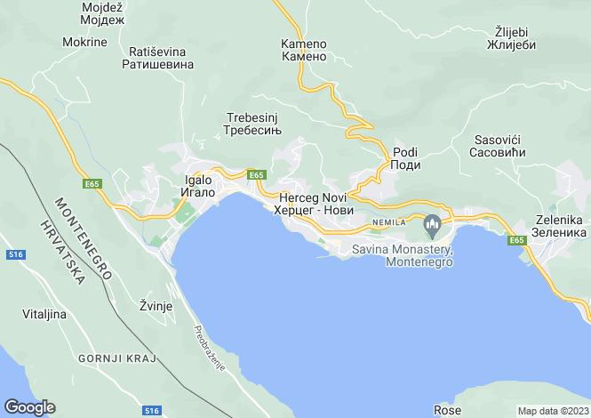 Map for Charming Family House In The Centre, Herceg Novi, Montenegro