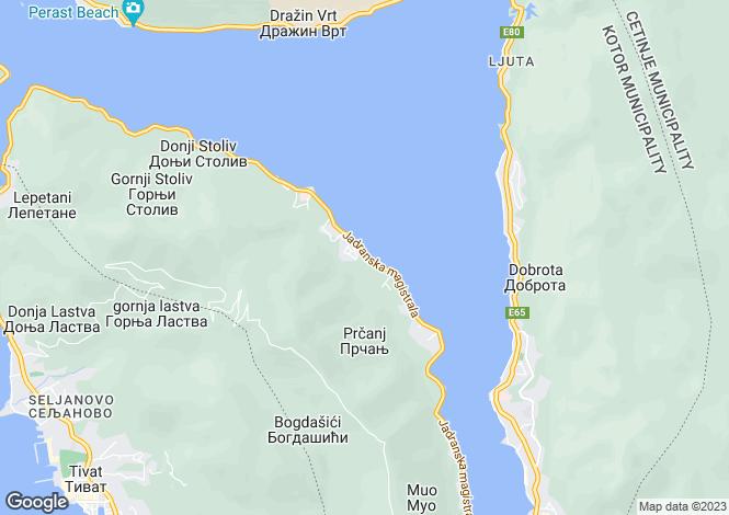 Map for Villa Kamelia - Front line Stone Villa Prcanj, Montenegro