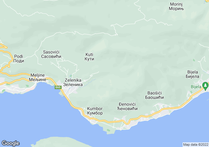 Map for Herceg Novi, Kotor Bay, Montenegro