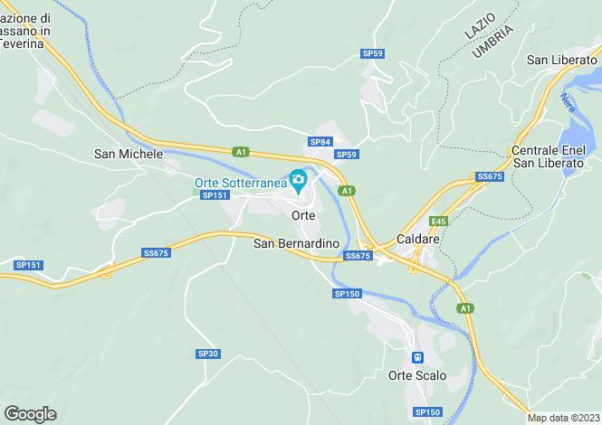 Map for Lazio, Viterbo, Orte