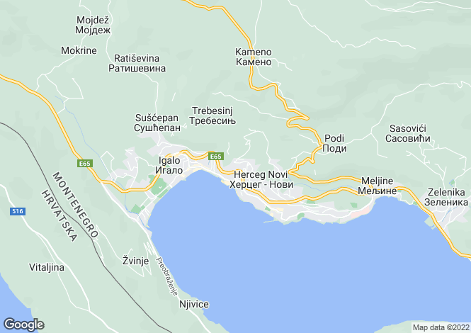 Map for Herceg-Novi