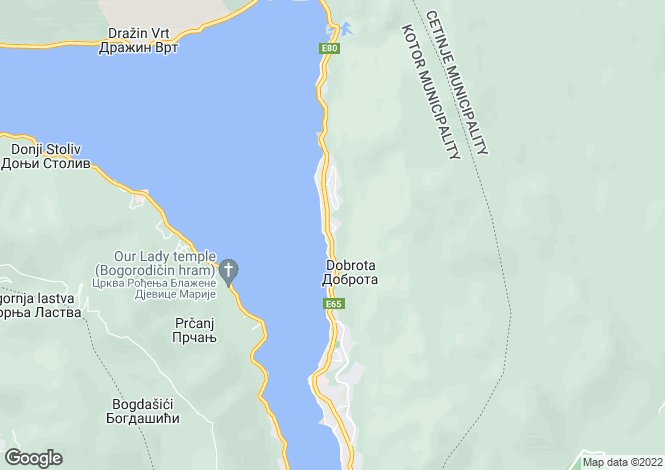 Map for Dobrota
