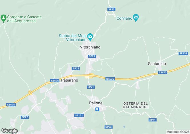 Map for Vitorchiano, Viterbo, Lazio