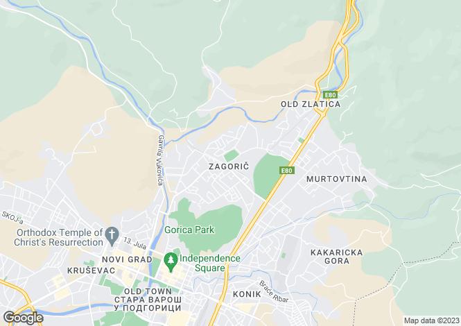Map for Residential Complex, Zagoric, Podgorica, Montenegro