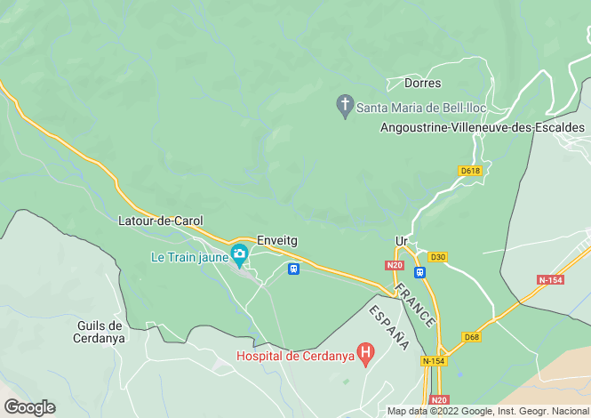 Map for enveitg, Pyrénées-Orientales, France