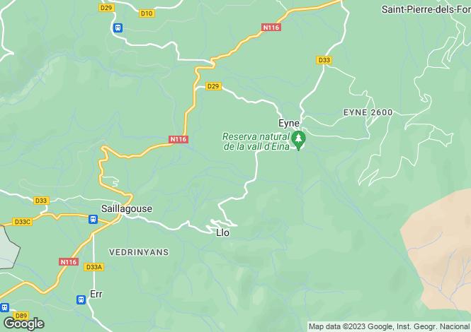 Map for Languedoc-Roussillon, Pyrénées-Orientales, Eyne