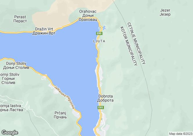 Map for Villa Dobrota, Front Line Villa For Sale