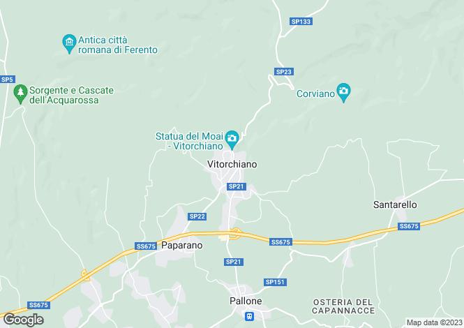 Map for Lazio, Viterbo, Vitorchiano
