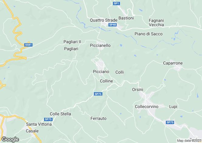 Map for Picciano, Pescara, Abruzzo