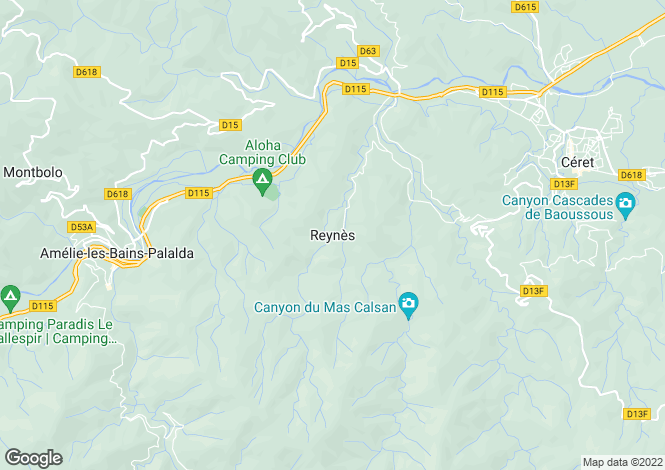 Map for Reynes, Languedoc-Roussillon, 66400, France