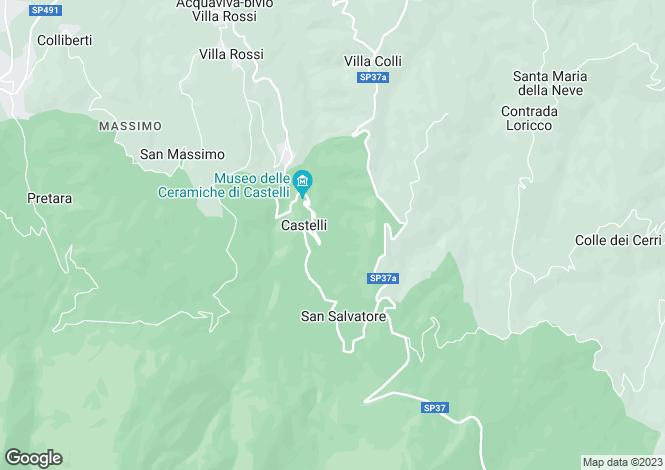 Map for Abruzzo,Teramo,Castelli