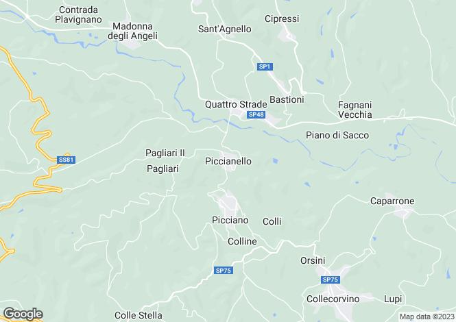 Map for Abruzzo, Pescara, Piccianello