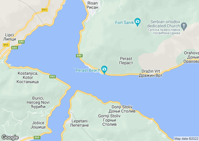 Map for Perast