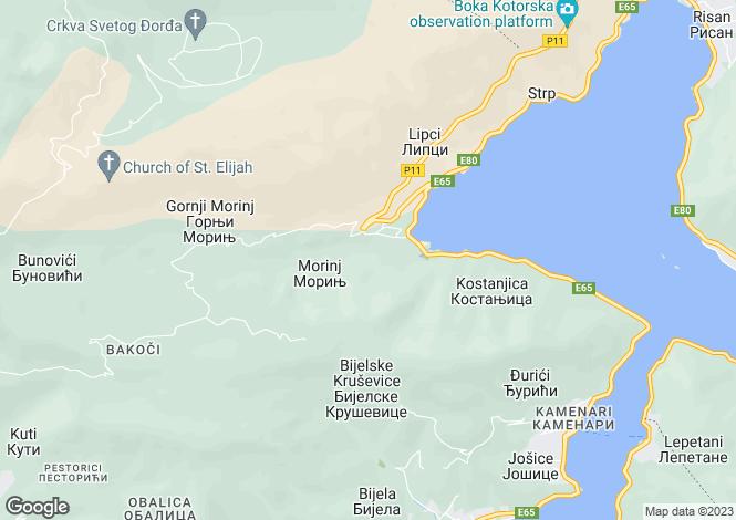 Map for Lavender Bay Residences, Morinj, Kotor Bay