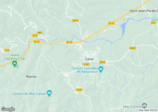 Map for CERET, Perpignan Area, Languedoc,