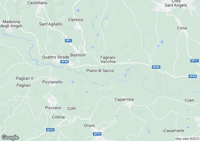 Map for Abruzzo, Pescara, Piano di Sacco