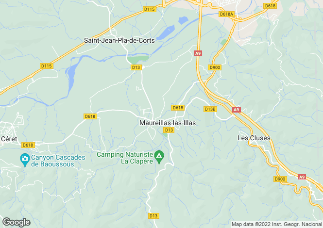 Map for Maureillas-las-Illas, Pyrénées-Orientales, Languedoc-Roussillon