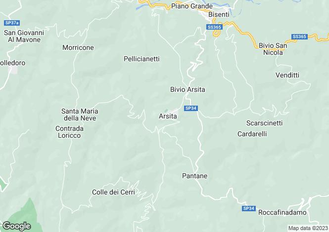 Map for Abruzzo, Teramo, Arsita