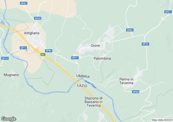 Map for Umbria, Terni, Giove