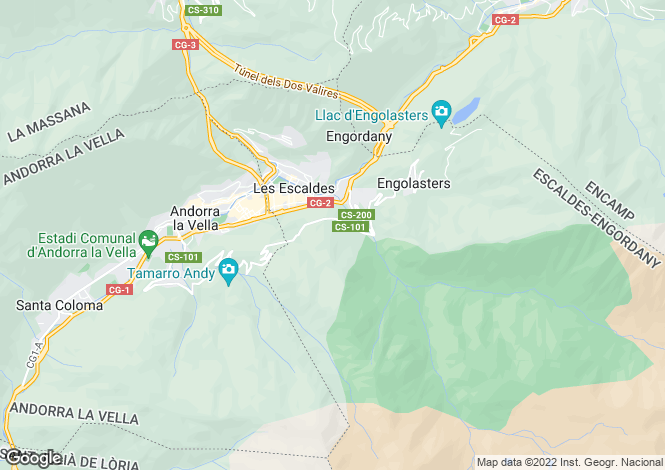 Map for Escaldes-Engordany