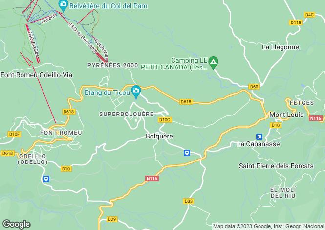 Map for bolquere, Pyrénées-Orientales, France
