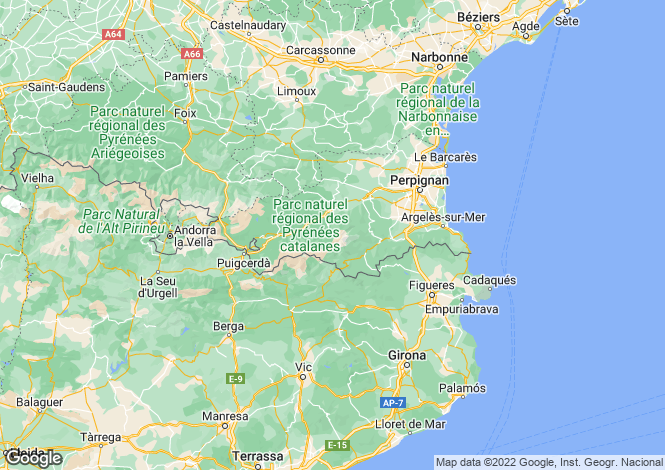 Map for Languedoc-Roussillon