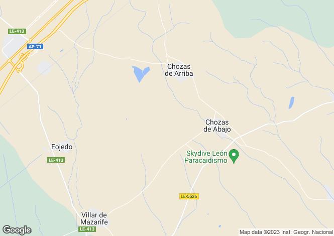 Map for Castile-Leon, Leon, Chozas de Abajo