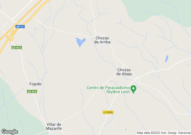 Map for Spain - Castile-Leon, Leon, Chozas de Abajo
