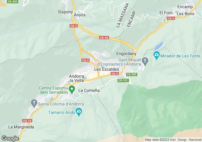 Map for Les Escaldes