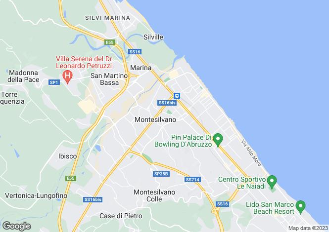 Map for Abruzzo, Pescara, Montesilvano