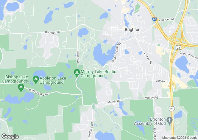 Map for USA - Michigan, Livingston County, Brighton