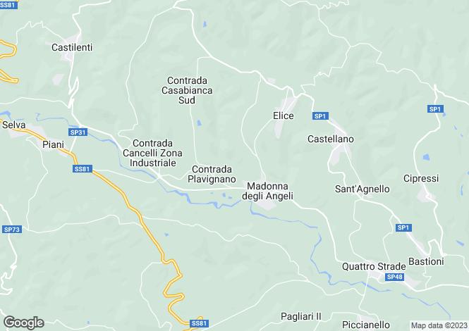 Map for Abruzzo, Pescara, Elice