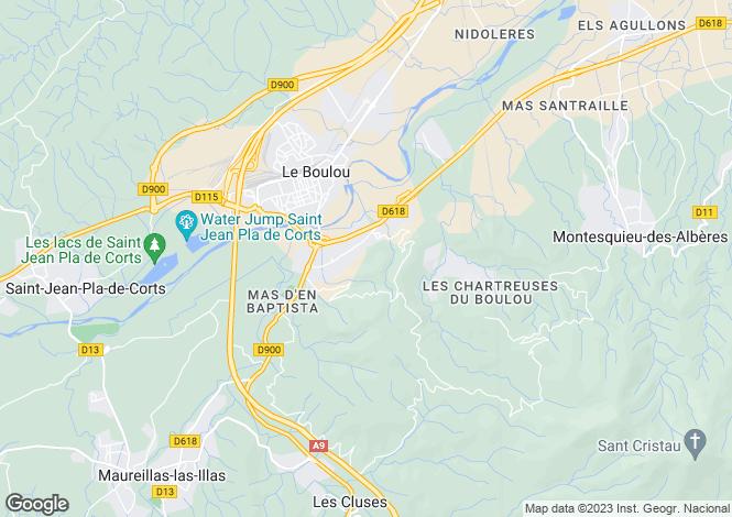 Map for Le Boulou, Pyrénées-Orientales, Languedoc-Roussillon
