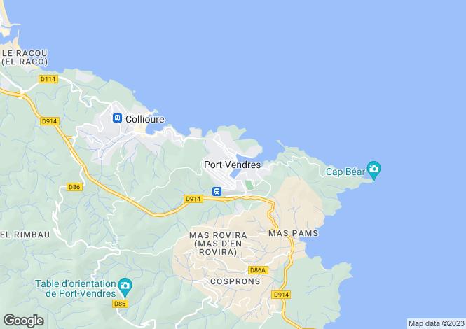Map for Secteur: Port-Vendres, Pyrenees-Orientales