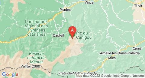 map of Canigou (France)