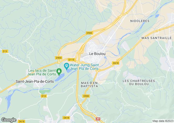 Map for Languedoc-Roussillon, Pyrénées-Orientales, Le Boulou