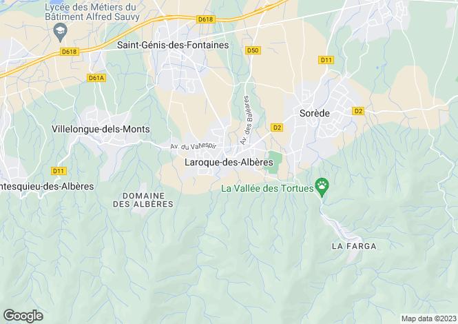 Map for Laroque-Des-Alberes, Languedoc-Roussillon, 66740, France