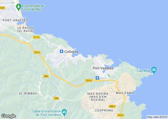 Map for Secteur: Collioure, Pyrenees-Orientales
