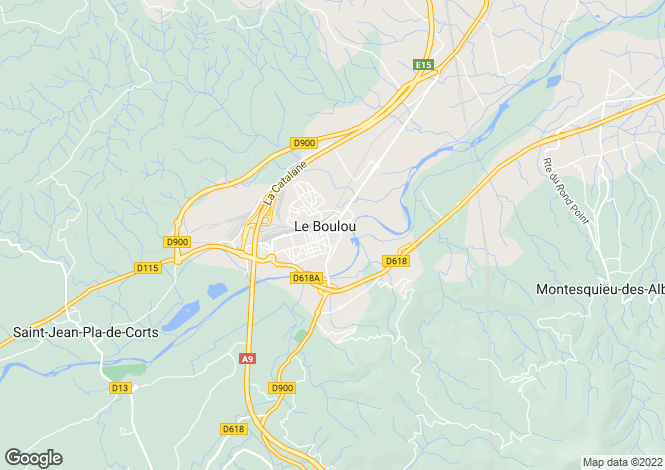 Map for Secteur: Le Boulou, Pyrenees-Orientales