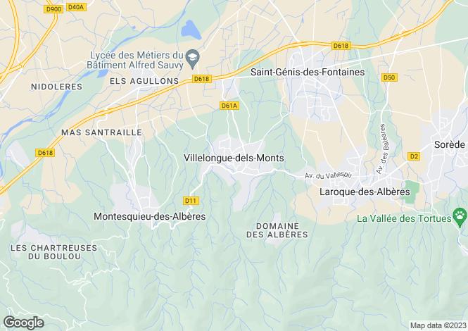 Map for Villelongue-Dels-Monts, Languedoc-Roussillon, 66740, France